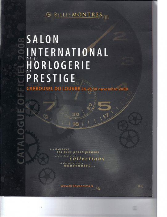 2009 Katalog, Salon BellesMontres