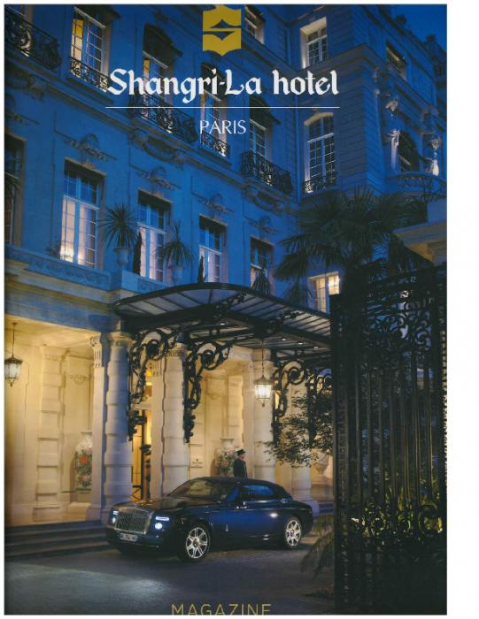 2016 Shangri-La hotel, Paris