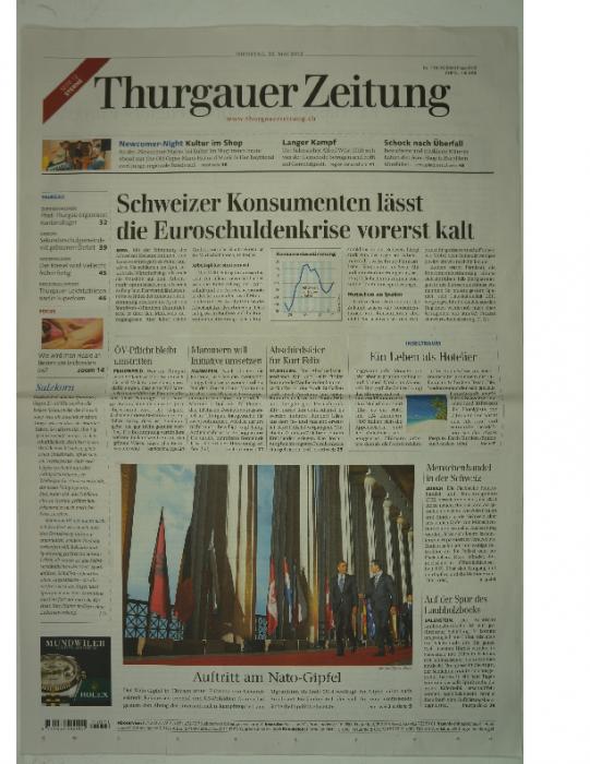 2012 Thurgauer Zeitung 22. Mai