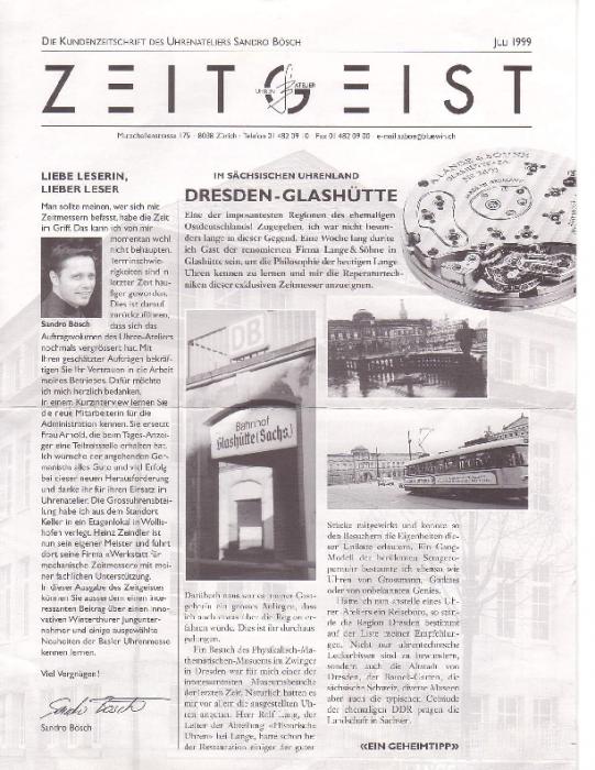 1999 Zeitgeist, Juli