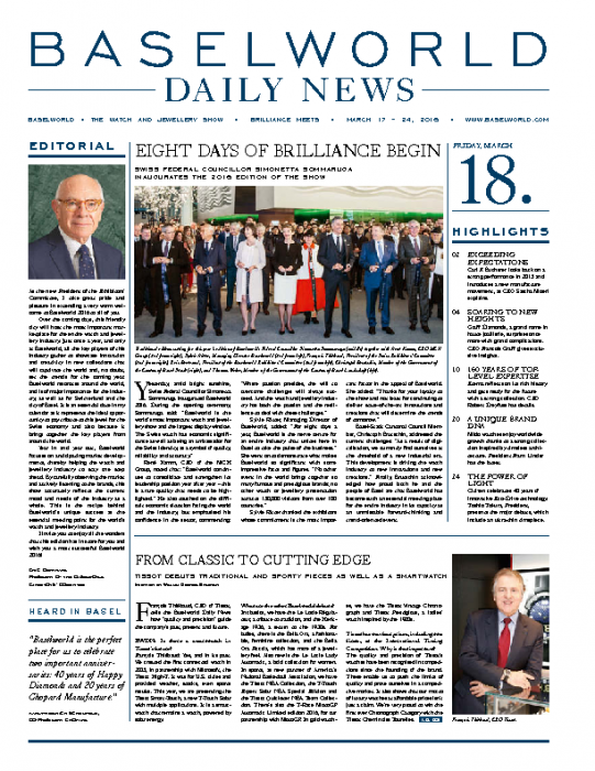 2016 Baselworld, Daily News, March 18