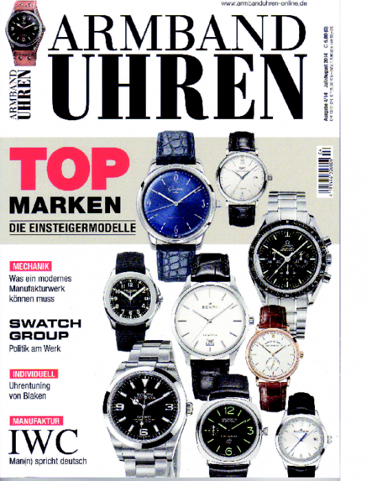 2014 Armband-Uhren Jul-Aug